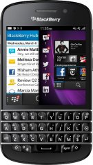 A picture of the BlackBerry Q10.