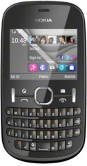 A picture of the Nokia Asha 201.