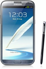 A picture of the Samsung Galaxy Note II.