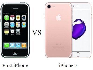 very first iphone the iphone 7 vs the iphone see the stunning 13240